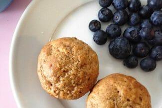 Whole Grain Banana Mini Muffins (Low Sugar)