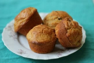 Corn Muffins with Yellow Squash and Raisins