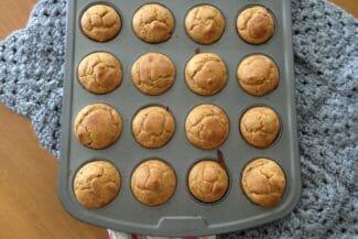 Pumpkin Almond Butter Mini Muffins