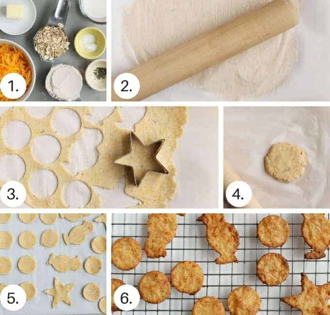 cheese cracker step by step