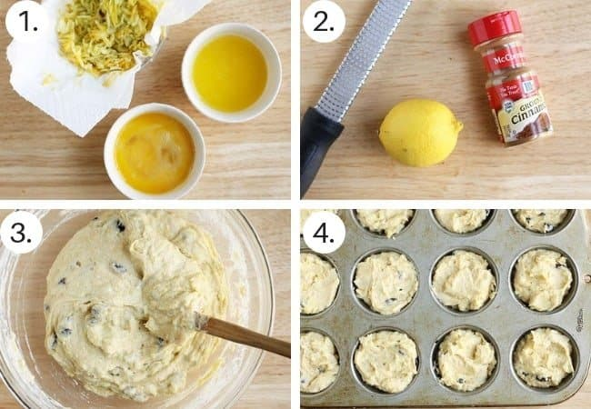 healthy corn meal muffins step by step