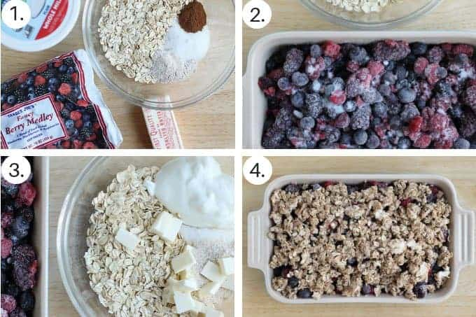 how to make berry crisp step by step