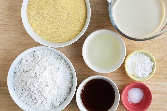 ingredients in cornbread muffins