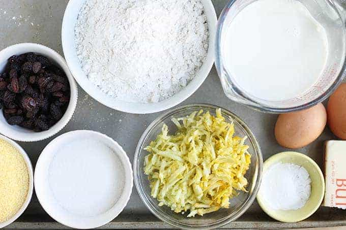 ingredients in healthy corn muffins