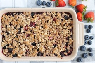 Easiest Berry Crisp (with Low Added Sugar)