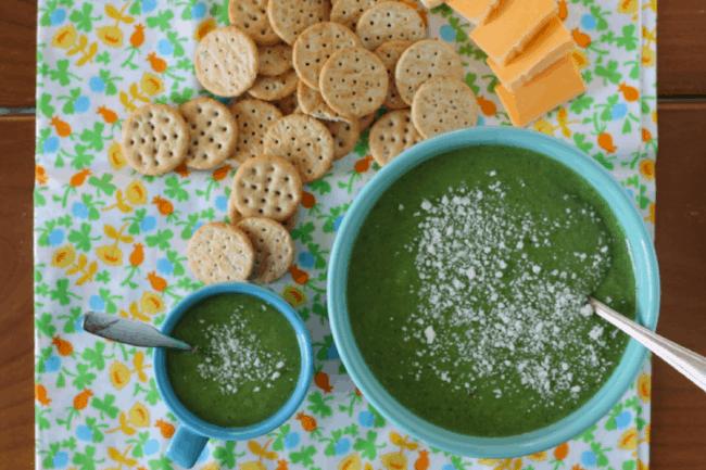 Creamy Broccoli Soup With Peas