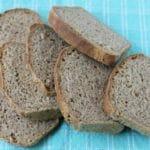 No knead whole wheat flax bread