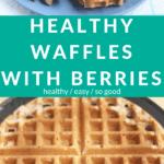 healthy waffles pin 1