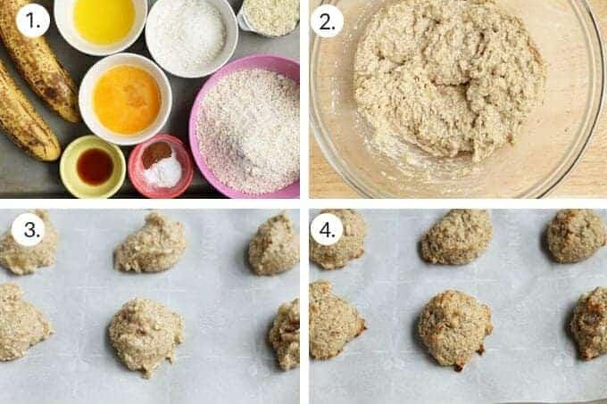 how to make mini banana scones step-by-step