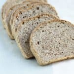sliced no knead whole wheat sandwich bread
