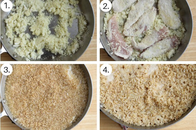 how to make chicken and brown rice step by step
