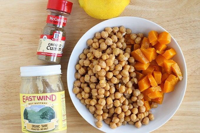 ingredients butternut squash hummus