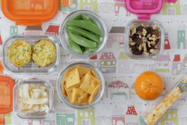 Toddler lunch with egg muffins