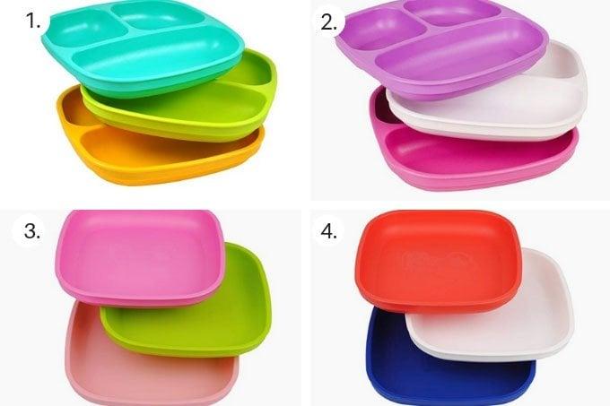 best-plastic-kids-plates-in-grid-of-4
