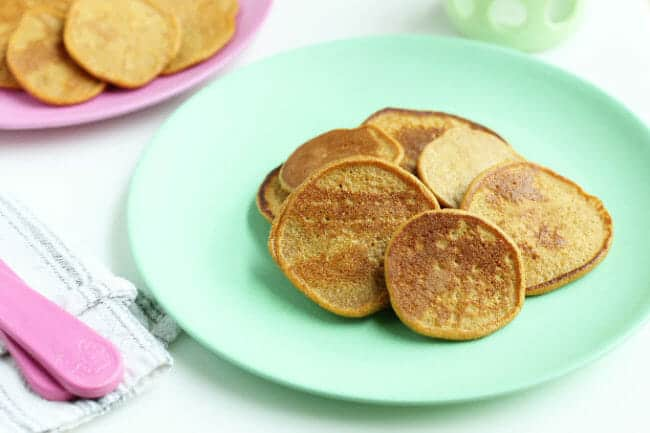 Healthy Whole Grain Sweet Potato Pancakes