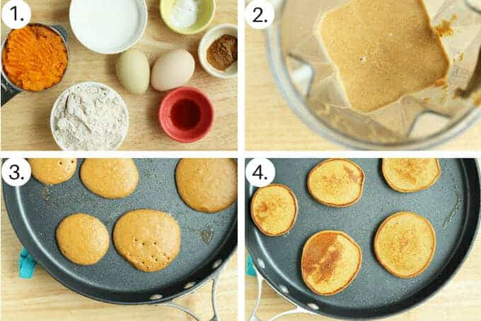 sweet potato pancakes Step by Step