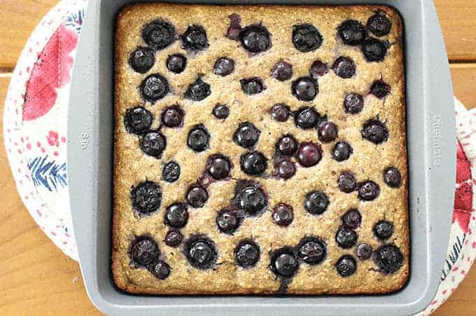 baked blueberry date cake