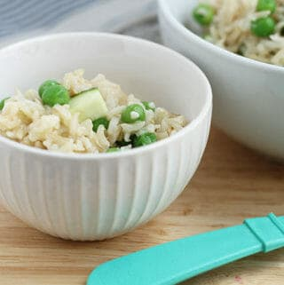 baked brown rice risotto bowls