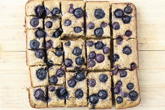 Blueberry Date Snack Cake