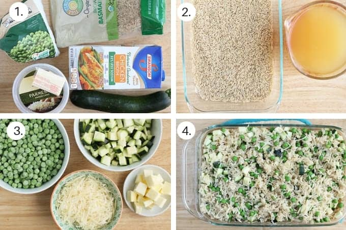 how to make baked brown rice risotto step by step