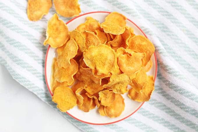 sweet-potato-chips-on-white-plate