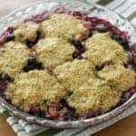 blueberry rhubarb cobbler