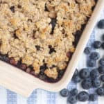 blueberry-crisp-on-blue-tea-towel