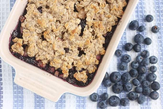 blueberry-crisp-on-blue-tea-towel