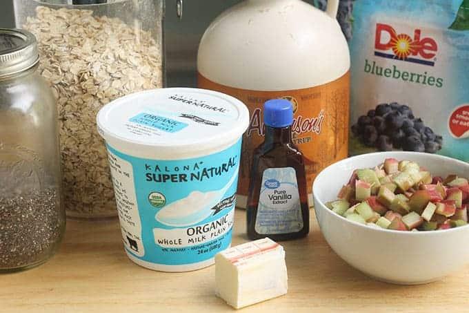 ingredients-in-healthy-blueberry-crisp