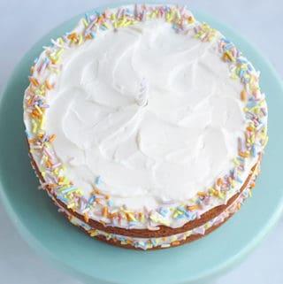 sweet-potato-cake with sprinkles