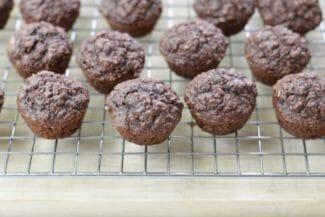 Cocoa Banana Oatmeal Muffins