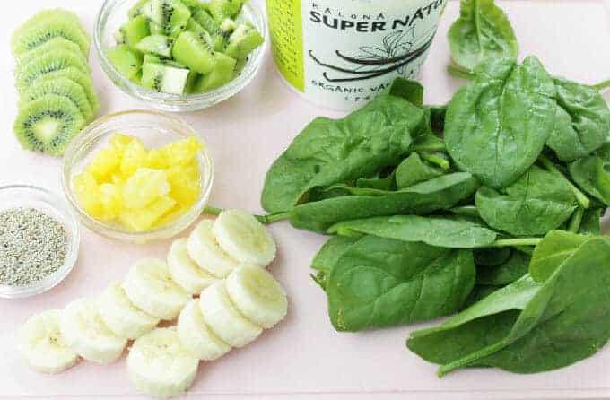 green smoothie freezer pops ingredients