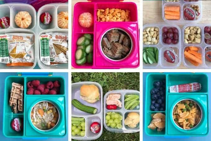 lunchbox ideas for kids in grid