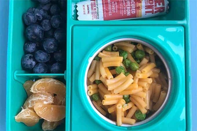 mac and cheese in lunchbox