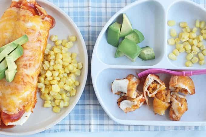 roasted-veggie-enchilads-on-kids-plate