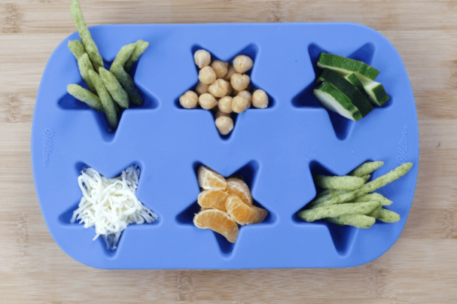 easy toddler dinner snack plate