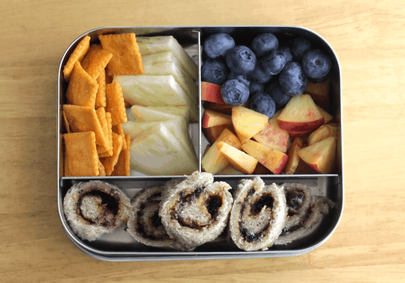 sandwich spiral toddler lunch