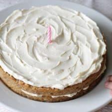 Tremendous Healthy Banana Cake Naturally Sweet Gluten Free Funny Birthday Cards Online Elaedamsfinfo