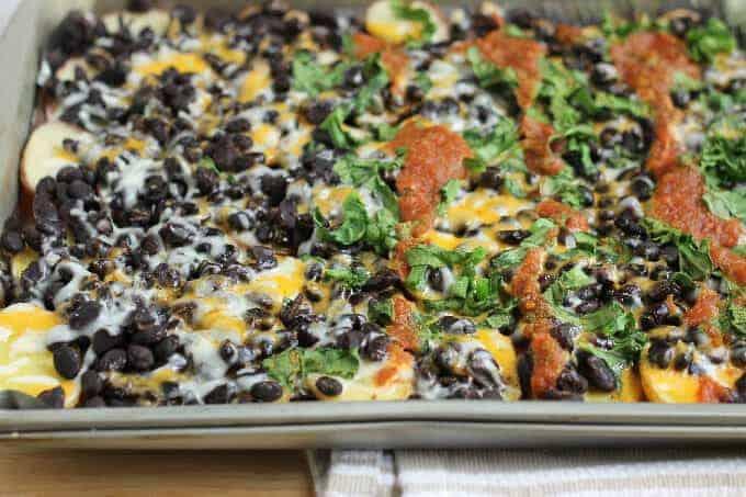 healthy baked nachos