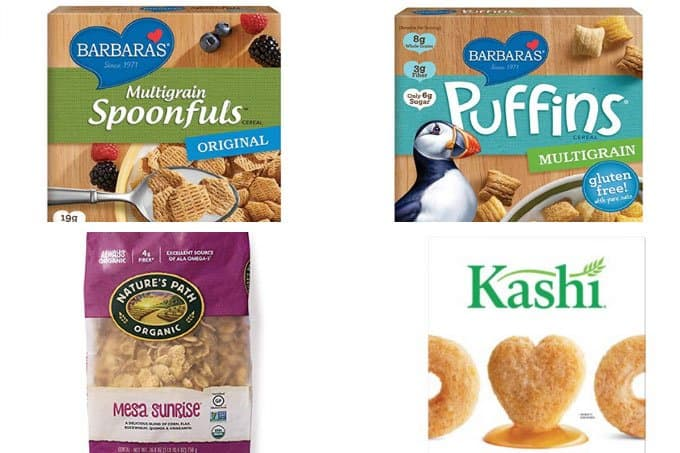 best cereals for kids in grid of 4