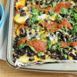 healthy loaded potato nachos