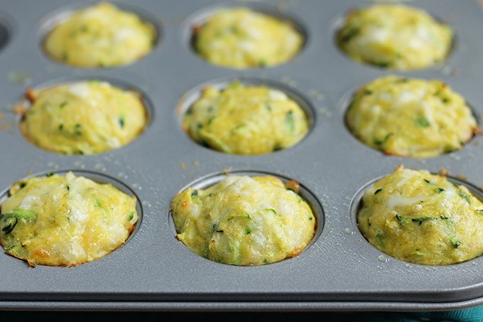 baked egg muffins with zucchini