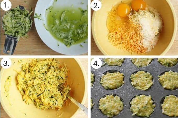 how to make egg cups recipe with zucchini step by step