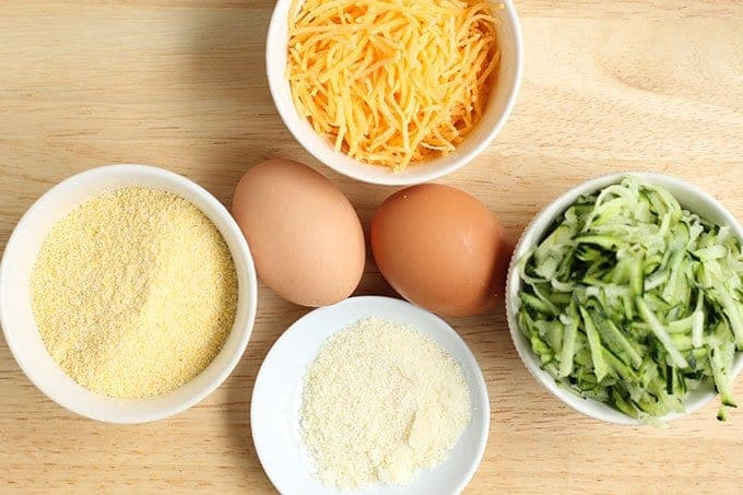ingredients in egg cups with zucchini