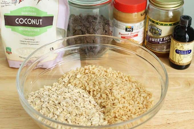 ingredients in no bake peanut butter bars