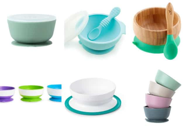suction bowls in grid of 6