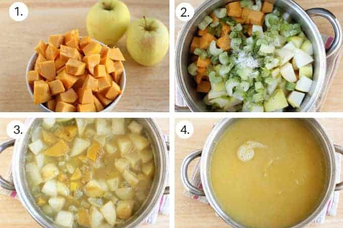 how to make butternut squash apple soup step-by-step