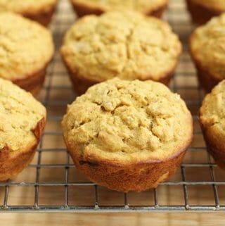 freshly baked butternut squash muffins
