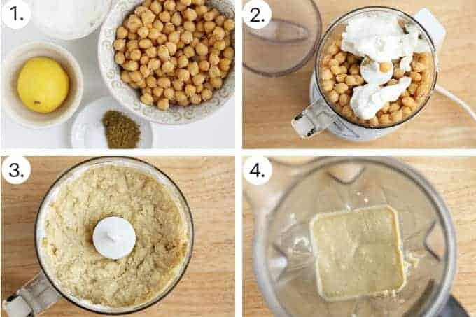 how to make hummus without tahini step by step