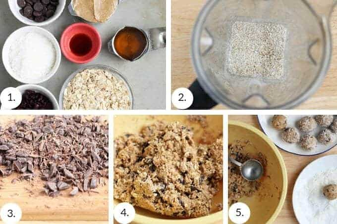how to make no bake peanut butter balls step by step process